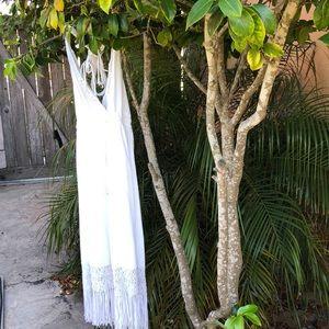 White tasseled flowy dress